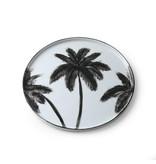 HK-Living Bold & Basic ceramics - palms dinner plates - set of 6 pieces