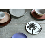 HK-Living Bold & Basic ceramic - palms plates - set of 6 pieces