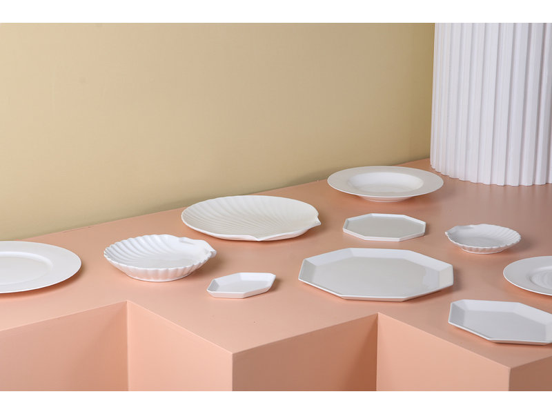 HK-Living Athena keramiska åttkantiga plattor - uppsättning 6 stycken