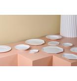 HK-Living Athena keramieken octagonal borden klein - set van 6 stuks