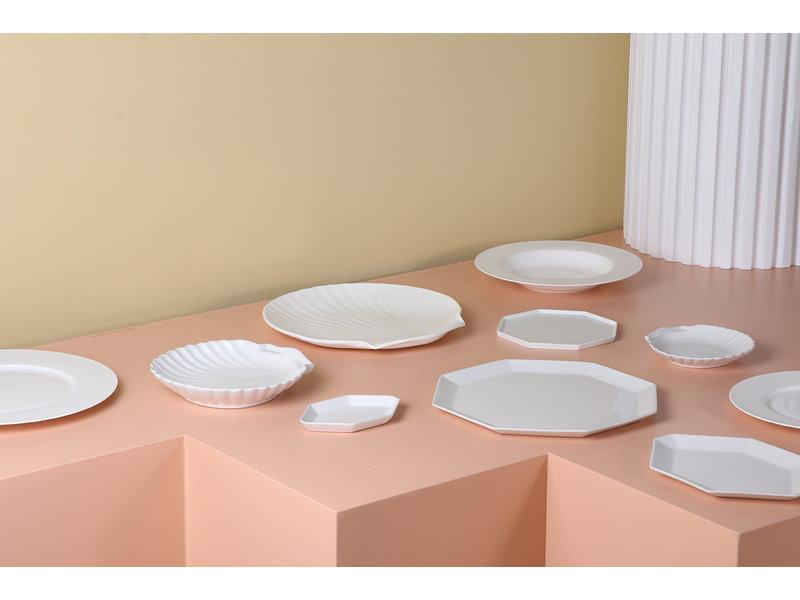 HK-Living Athena keramiska åttkantiga plattor små - uppsättning 6 stycken