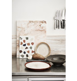 HK-Living Kyoto ceramic pasta plates - sets of 6 pieces