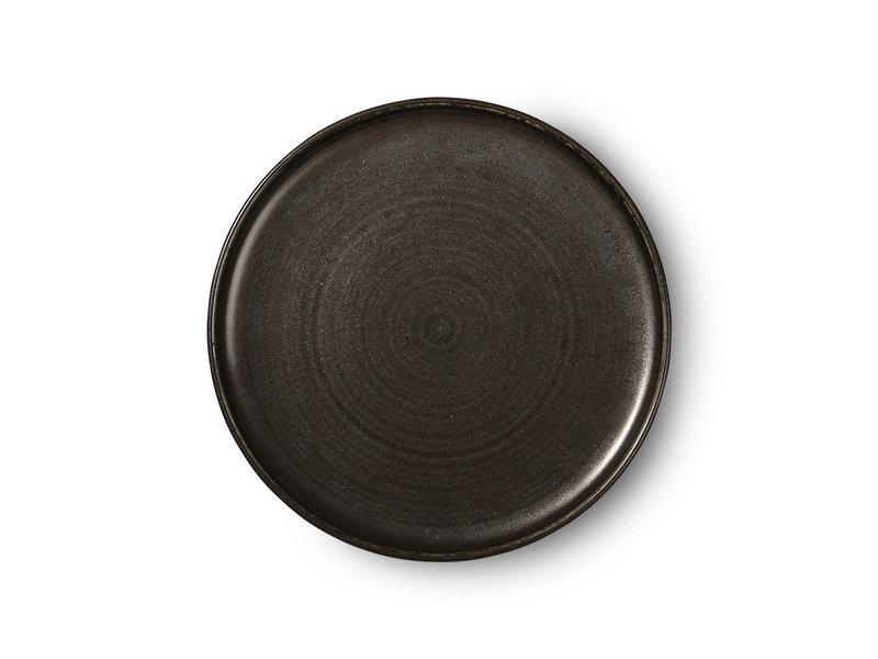 HK-Living Kyoto keramiske middagsplade - sæt af 4 stk