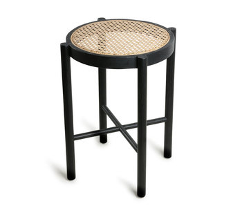 HK-Living Retro Webstuhl Hocker schwarz