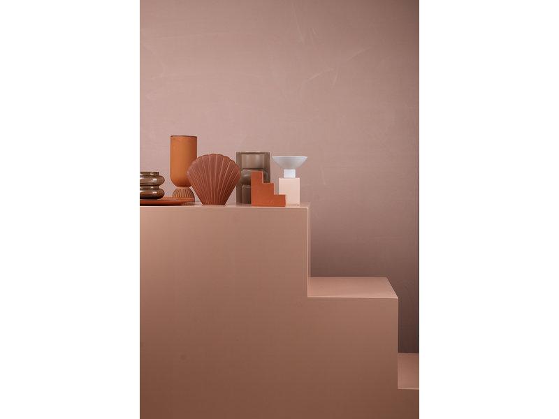 HK-Living Shell keramieken vaas bruin - medium