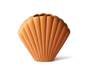 HK-Living Shell keramieken vaas terra - large