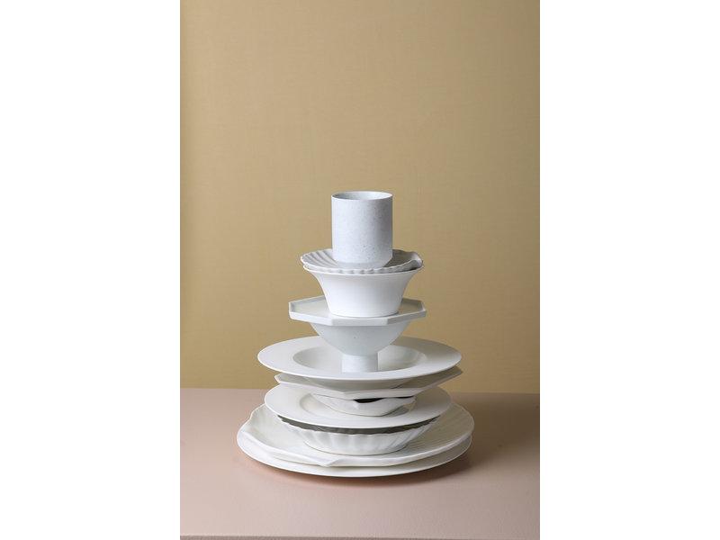 HK-Living Athena keramisk porslinskål - uppsättning av 4 stycken