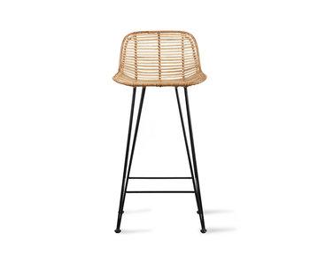 HK-Living Naturliga rotting bar stol