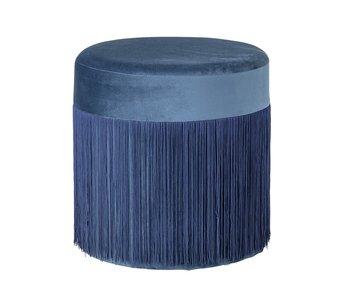 Bloomingville Mormor pouf blå