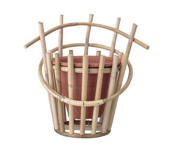Bloomingville Wall flowerpot terracotta bamboo
