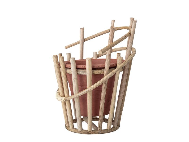 Bloomingville Muur bloempot terracotta bamboe