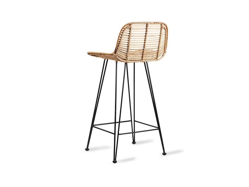 HK-Living Rotan bar stoel naturel