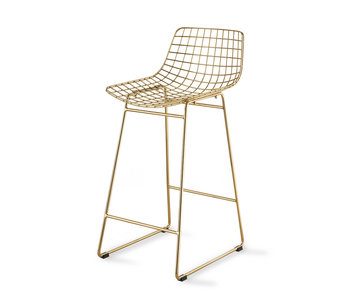 HK-Living laiton Draadstaal Barstool