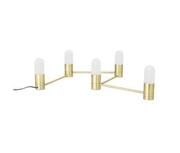 Bloomingville Lampada da tavolo / lampada da parete in metallo - oro