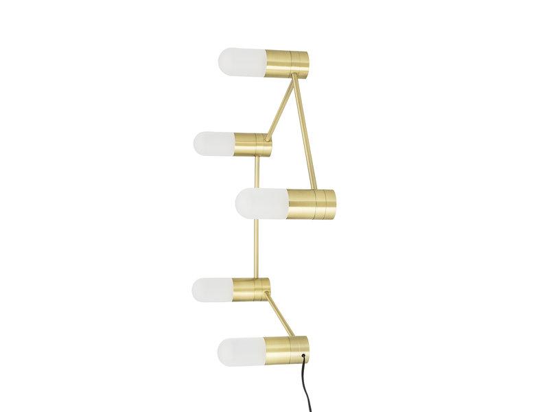 Bloomingville Lámpara de mesa / lámpara de pared metal - oro