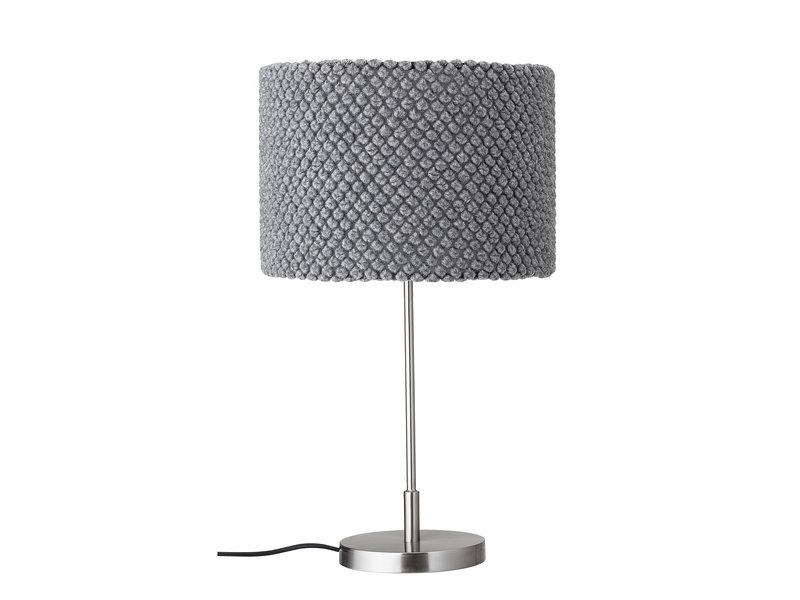 Bloomingville Lámpara de mesa metal - gris