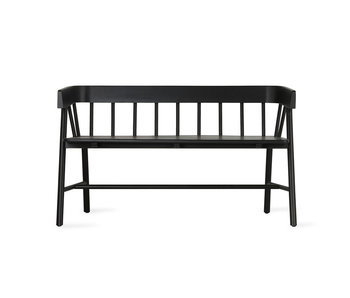 HK-Living Wooden bench black