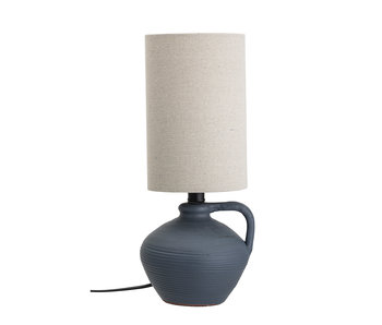 Bloomingville Terracotta table lamp - blue