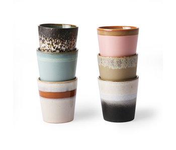 HK-Living Set de tasses en céramique 70's