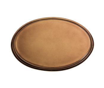 Bloomingville Glass tray - brown