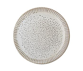 Bloomingville Thea bord grijs - set van 6 stuks Ø20 cm
