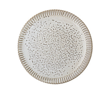 Bloomingville Thea plate gray - set of 6 pieces Ø20 cm