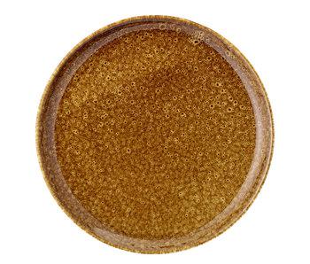 Bloomingville Assiette Thea marron - set de 6 pièces Ø21 cm