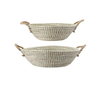 Bloomingville Natural grass baskets - set of 2