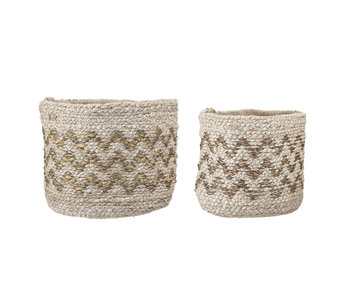 Bloomingville Basket burlap set of 2