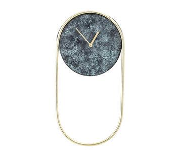 Bloomingville Horloge en métal - vert