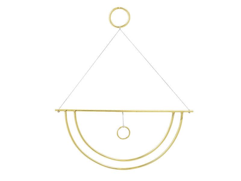 Bloomingville Wanddekoration Metall - Gold