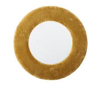 Bloomingville Spiegel Baumwolle - gelb