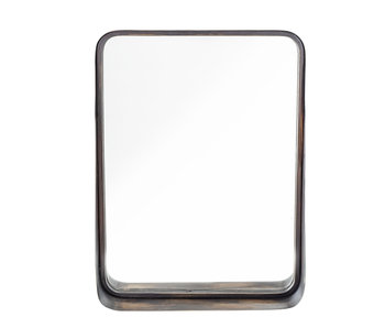Bloomingville Spejlet metal - sort