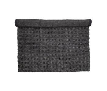 Bloomingville Rug jute black - L210xW150 cm