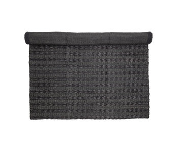 Bloomingville Tapis jute noir - L210xW150 cm