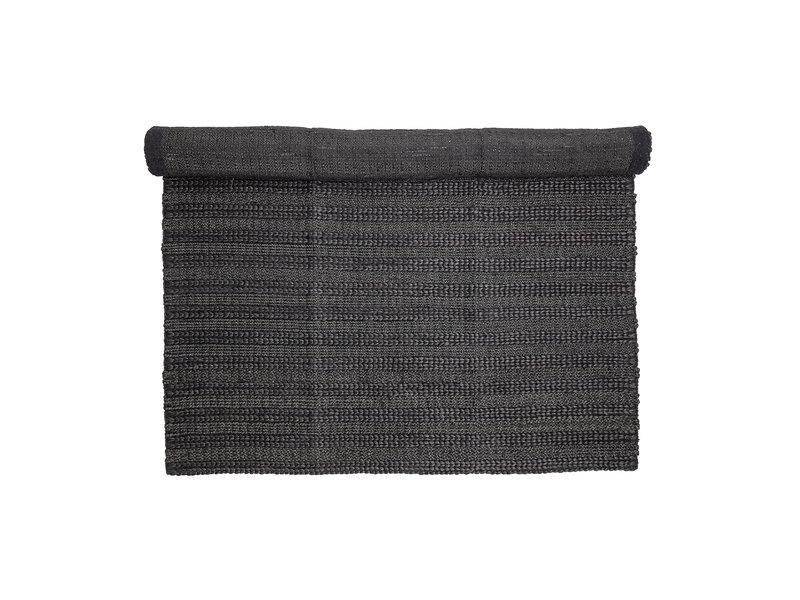 Bloomingville Teppich Jute schwarz - L210xB150 cm