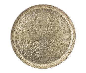 Bloomingville Brass tray Ø32xH3 cm