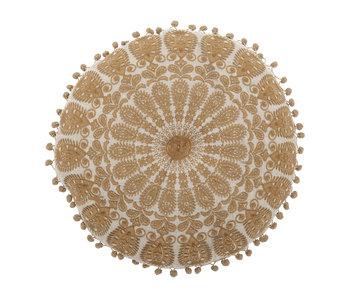 Bloomingville Coussin en coton jaune Ø40 cm