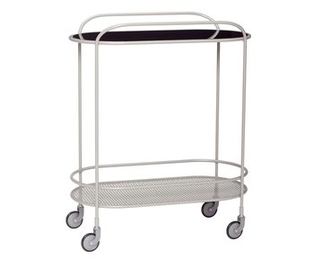 Hubsch Metal trolley - gray