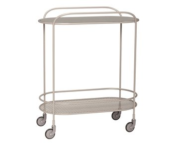 Hubsch Metal / glass trolley - gray