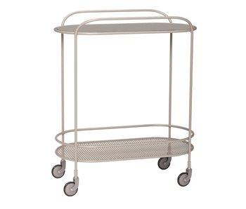 Hubsch Trolley metaal/glas - grijs