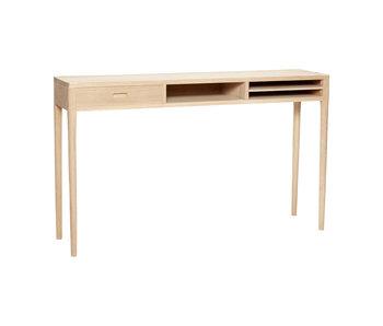 Hubsch Mesa auxiliar con cajones de madera