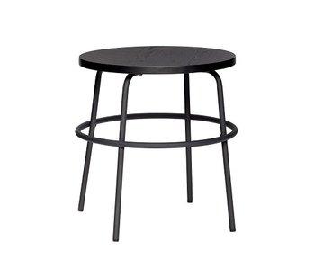 Hubsch Mesa auxiliar metal / madera - negro