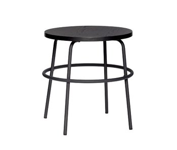 Hubsch Side table metal / wood - black
