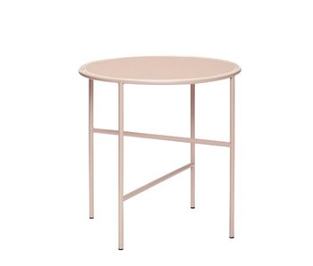 Hubsch Side table metal / glass - nude