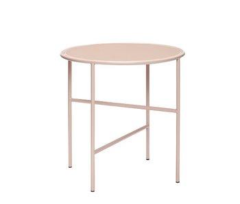 Hubsch Table d'appoint en métal / verre - nude