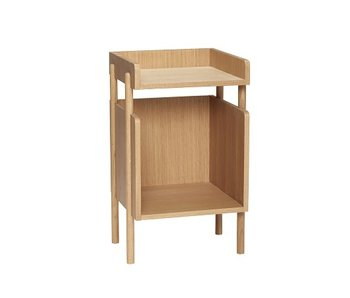 Hubsch Oak side table - 38x35xh60cm