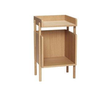 Hubsch Table d'appoint en chêne - 38x35xh60cm