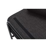 Hubsch Canapé métal / bois - noir avec coussins