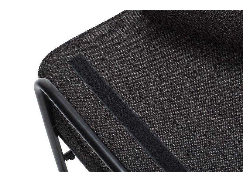 Hubsch Metall / trä soffa - svart inklusive kuddar